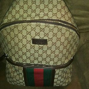 Gucci canvas bag backpack GG pattern